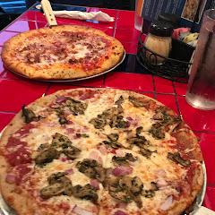 Gluten free vs non gluten free. The bigger pie is gf.