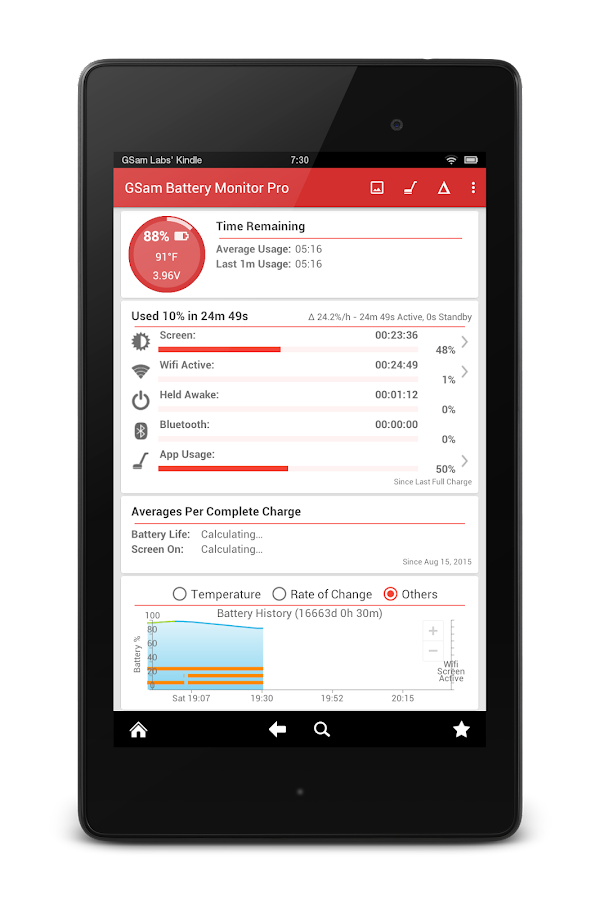 Battery Monitoring App User Interface : Gsam battery monitor pro android apps on google play