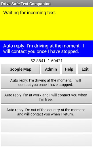 Drive Safe Text Companion