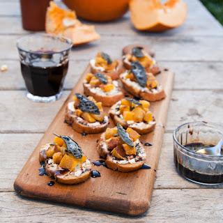 Pumpkin Crostini with Sage