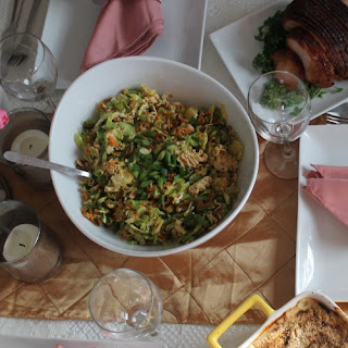 Brussels Sprout Ramen Noodle Salad