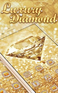 Luxury Diamond Launcher: Gold Glitter Deluxe Theme - náhled