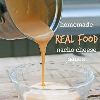 Homemade Real Food Nacho Cheese Sauce.