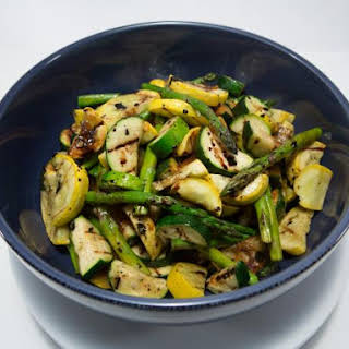 Grilled Asparagus with Zucchini and Squash.