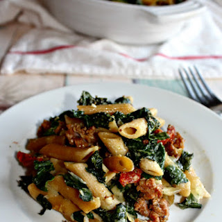 Baked Pasta with Kale and Sausage.