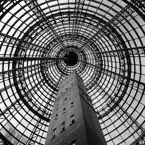 Melbourne Central by Thomas Brunet - Buildings & Architecture Public & Historical ( l120, melbourne, black and white, australia, nikon,  )