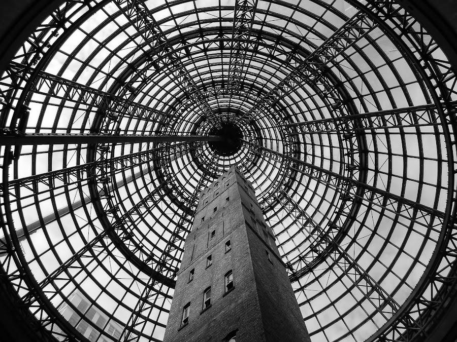 Melbourne Central by Thomas Brunet - Buildings & Architecture Public & Historical ( l120, melbourne, black and white, australia, nikon,  )