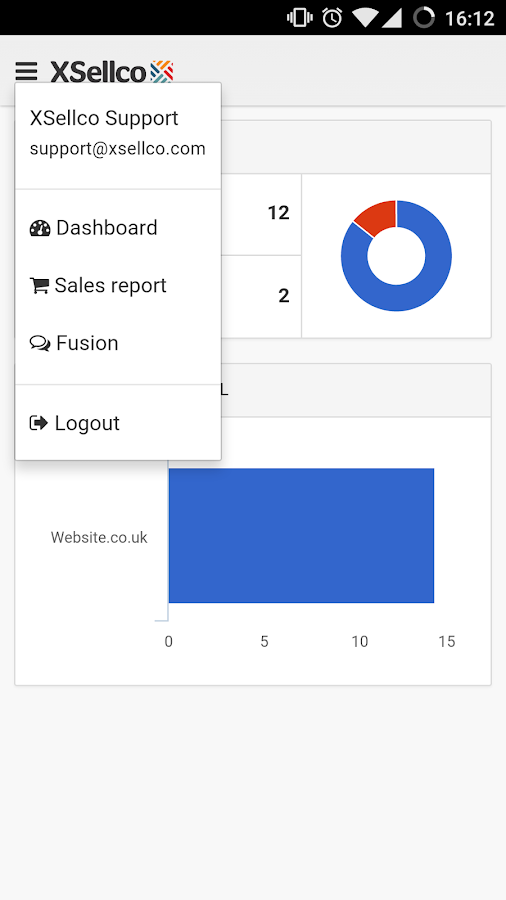 XSellco eRetailer Dashboard- screenshot