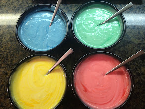 Photo: Color the batter with food coloring