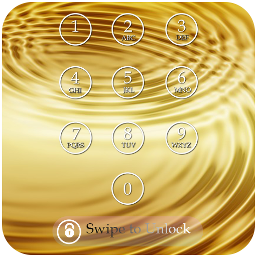 Gold Keypad Lock Screen Theme