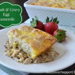 Biscuit & Gravy Egg Casserole.