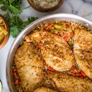 One Skillet Fajita Style Chicken and Rice