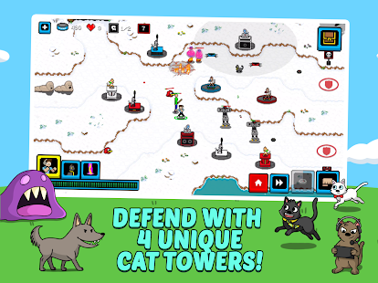 Cats & Cosplay: Tower Defense (A Cat Kingdom Rush) Screenshot