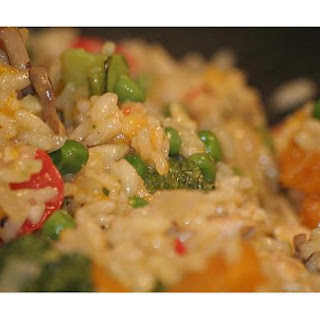 One Dish Chicken and Rice Bake.