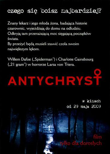 Tył ulotki filmu 'Antychryst'