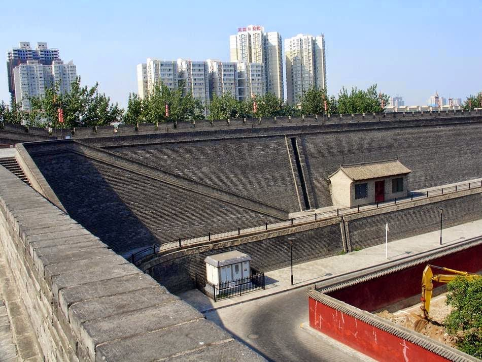 Xian Ming Wall, às muralhas de Xian