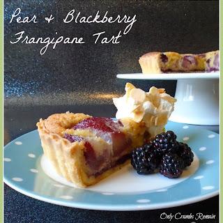 Pear & Blackberry Franginpane Tart