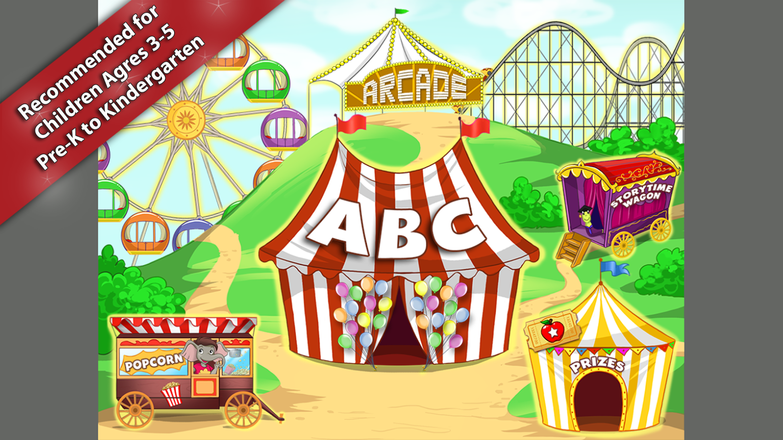 Red Apple Reading Level A -Carnival Fun- Members- screenshot