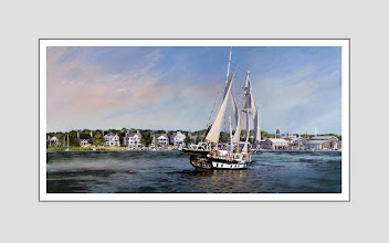 """Photo: """"I'm Home"""" - Beaufort Waterfront and Meka II by local artist Mary Warshaw"""