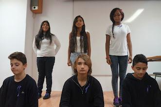 Photo: Alumnes de Taller de Teatre de 2n ESO