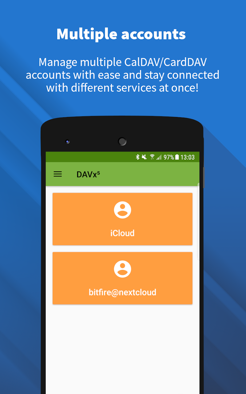 DAVx⁵ (DAVdroid) – CalDAV/CardDAV Client Screenshot 2