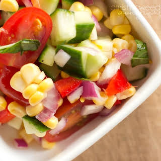Summer Salad with Fresh Corn and Tomatoes {gluten, dairy, and soy free}.