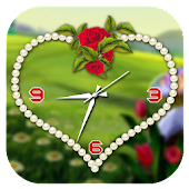 Tải Game Rose clock live wallpaper