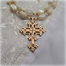 Photo: # 221  Brass Hutsul cross, vintage Mother of Pearl, gold plate $150  SOLD