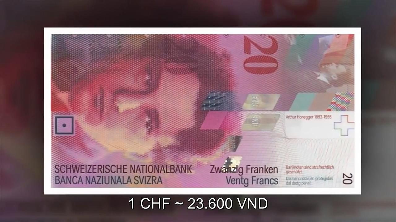 """Những tờ tiền Franc của Thụy Sỹ được thiết kế đặc biệt khác nhau. Trên các  đồng Franc đều có tính chống tiền giả như """"hiệu ứng độ nghiêng"""", cho phép  chân ..."""