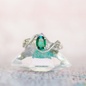 Emerald Ring by Bethany McGregor - Artistic Objects Jewelry ( bakyard, apwedding, tacoma, seattle, wedding, summer,  )