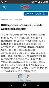 Notícias da OAB Bahia screenshot 1