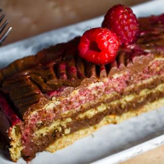 Chocolate Raspberry Rose Cake