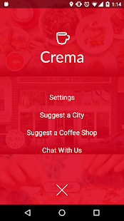 Crema find indie coffee shops- screenshot thumbnail