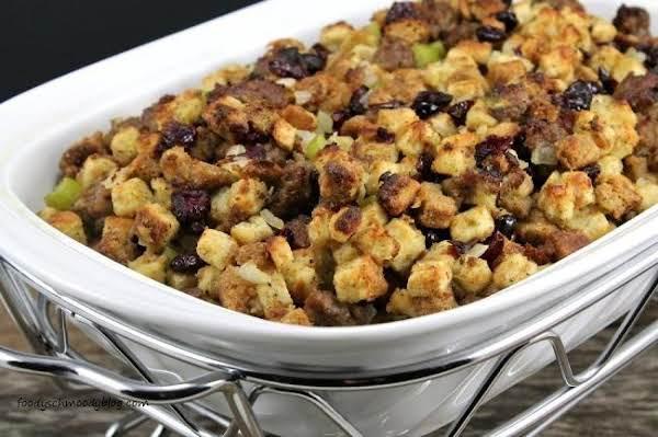 Shortcut Sausage & Cranberry Thanksgiving Stuffing