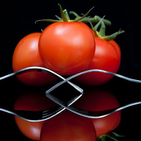 forked tomatoes  by Murray howard-Brooks - Uncategorized All Uncategorized (  )