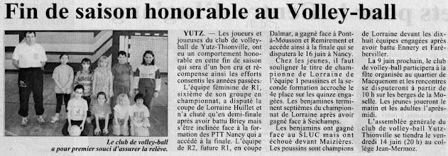 Photo: 05-06-96 Poussins et poussines sont champions de Lorraine