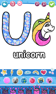 Glitter Number and letters coloring Book for kids 3