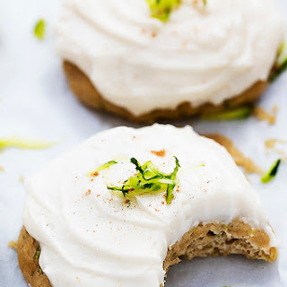 Zucchini Cookies with Brown Butter Cream Cheese Frosting