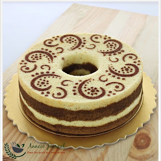 Orange Chocolate Chiffon Cake.