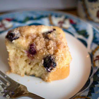 Blueberry Cream Cheese Streusel Mini Cakes