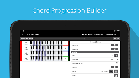 Piano Chords, Scales, Progression Companion PRO Screenshot