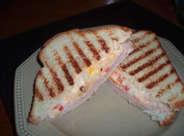 Sweet Pimento Cheese & Ham Grilled Sandwich