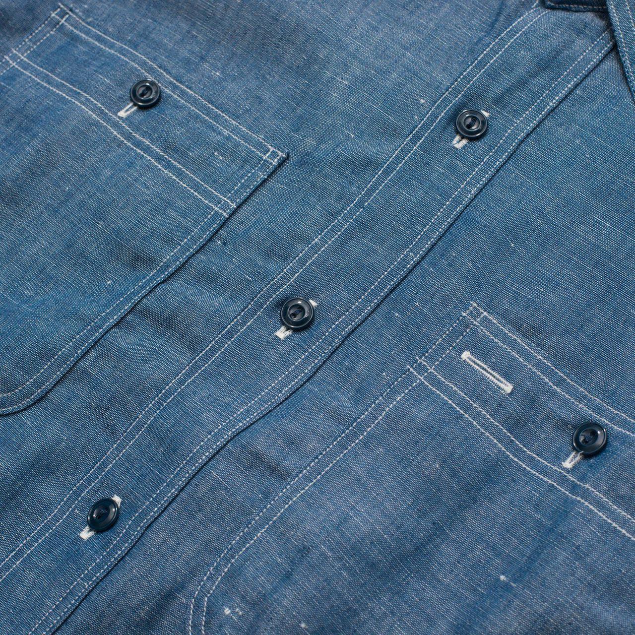 Belafonte 16-025 BRagtime Chopper Collar Shirt Chambray-Shirts-Clutch Cafe