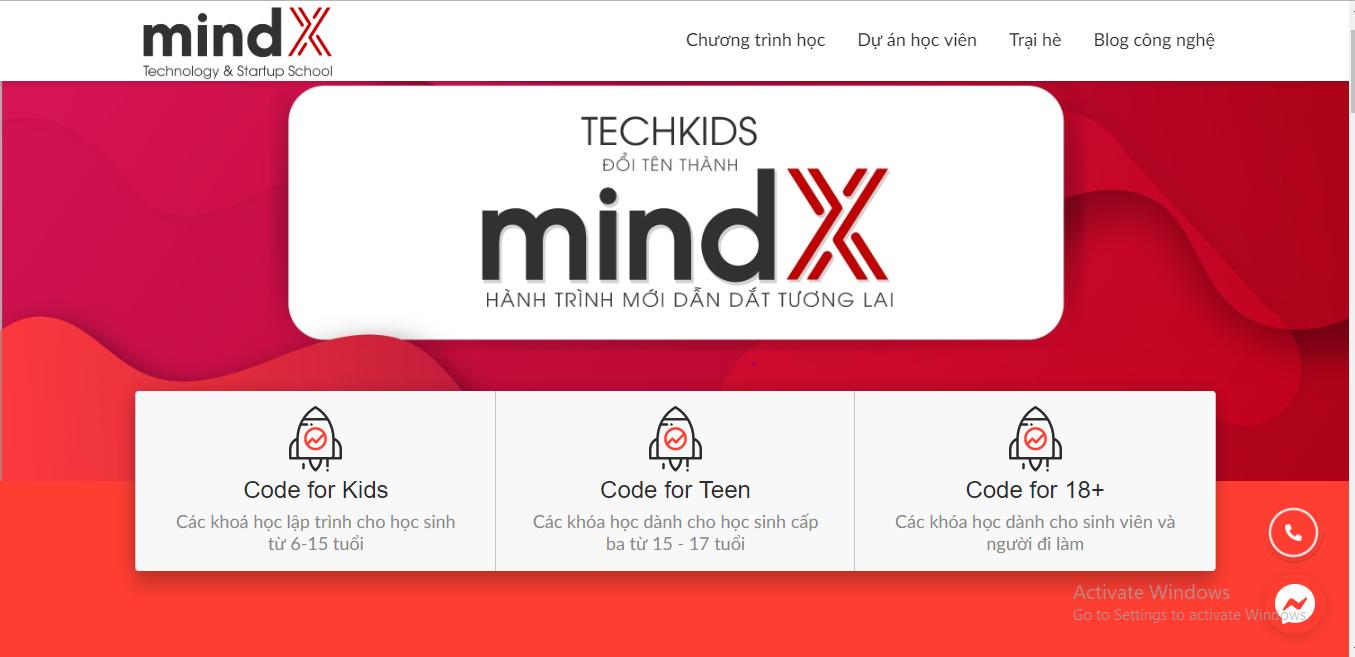 Mindx - trung tâm học lập trình Python chất lượng.