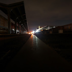 Dead Rails. by Andre Quintana - City,  Street & Park  Night ( train tracks, train station, railway, nighttime, night time, train, night, long exposure )