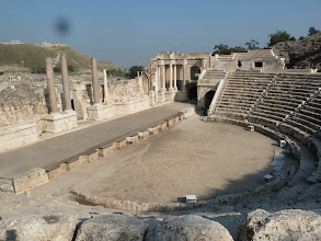 Photo: This 7,000 seat theater was built in the first century, and is one of the largest and best and preserved in Israel.
