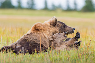 Photo: Resting with Mom