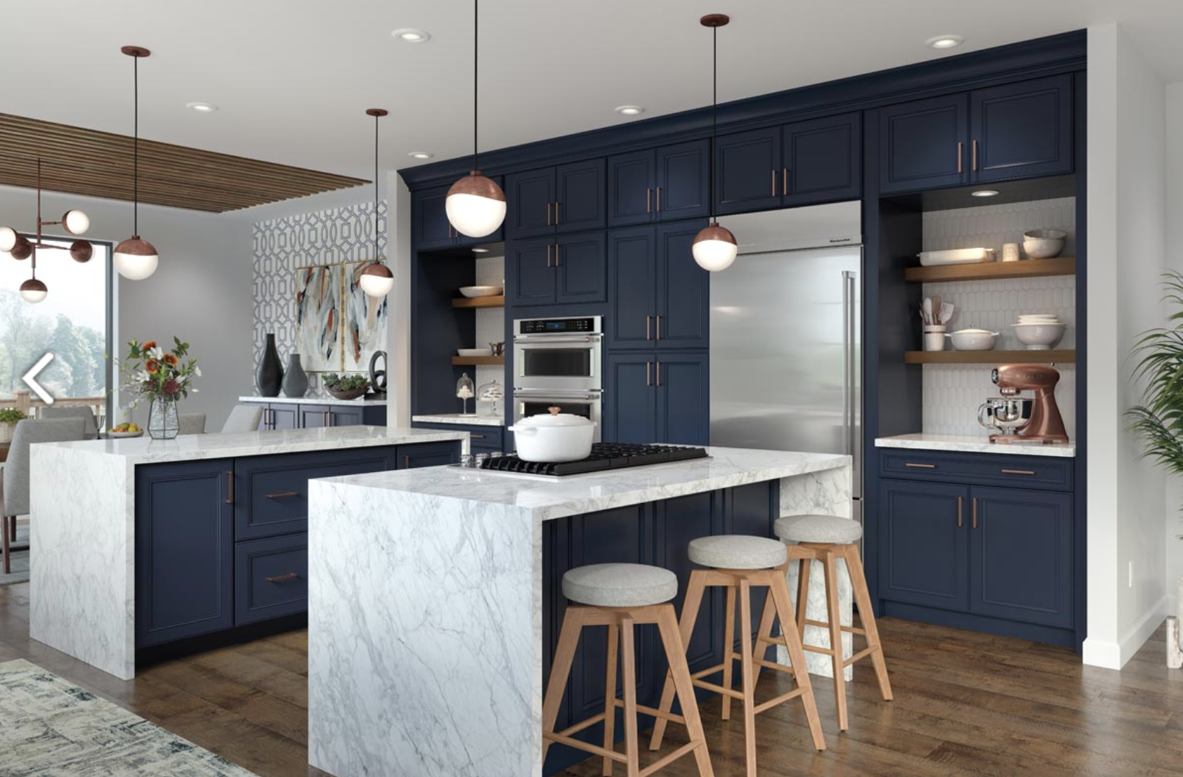 Waypoint Living Spaces Cabinetry for kitchen redesign, Johnson Lumber, Maryland Kitchen Design