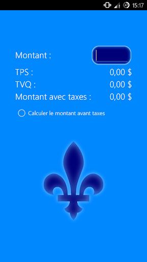 Calcul de Taxes au Québec
