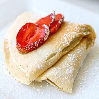 Mascarpone Crepes with Nutella Filling.